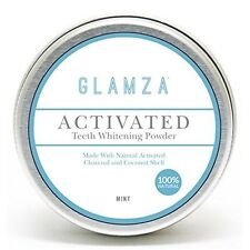 Glamza Natural Organic Activated Teeth Tooth Whitening Charcoal Powder Paste Big