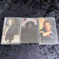Lot Of 3 Michael Bolton Cassette Tapes Columbia The Hunger Soul Provider +1