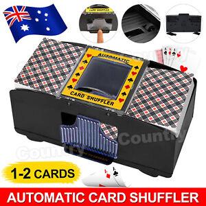 2 Deck Card Shuffling Machine Board Game Poker Playing Cards Automatic Shuffler
