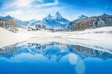 BEAUTIFUL SNOWY MOUNTAIN CANVAS PICTURE #26 STUNNING LANDSCAPE NATURE A1 CANVAS