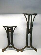 Antique Pair Chandler 1897 Adjustable Cast Iron Metal Desk Table Legs