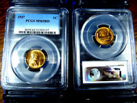 MS65RD PCGS Graded 1937 Lincoln Wheat Penny