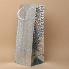 Holographic Bottle/Wine Gift Bags Party Weddings Birthdays 6 Colours