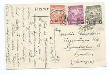 BARBADOS: Postcard to Sweden 1948.