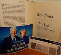 "HOT ITEM! Only $149 Autographed Book ""My Life"" SIGNED by BILL & HILLARY CLINTON"
