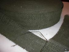 """15 Yards of Orig. WWII US Army Olive Green Camouflage 2"""" Burlap - helmets & Nets"""