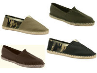 New Mens Espadrilles Canvas Summer Deck Slip On Alpargatas Shoes Size UK 6-12