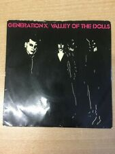 """New listing GENERATION X - VALLEY OF THE DOLLS/SHAKIN' ALL OVER 7"""" VINYL CHRYSALIS 1979 P/S"""