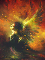 CHOP848 abstract fancy angel girl hand painted decor oil painting art on canvas