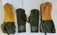 Trigger Finger Mittens Wool Inserts Liners Medium Leather Gloves USGI M1965