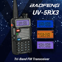 Baofeng UV-5RX3 Tri-Band 2m/1.25m/70cm VHF UHF VFO Two way Radio + 2x Antenna
