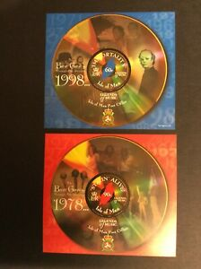Isle of Man 1999 Two Circular Bee Gees Mini Sheets Legends of Music