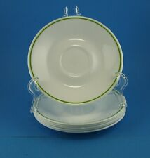 "6 Corelle 6 .25"" Saucers Lime Green Ring, Wildflower, Strawberry Sundae  +More"