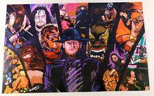 The Undertaker WrestleMania 14x22 Pro Wrestling Poster WWE WWF Warrior Hogan New