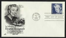 #2105 20c Eleanor Roosevelt, Art Craft FDC **ANY 4=FREE SHIPPING**