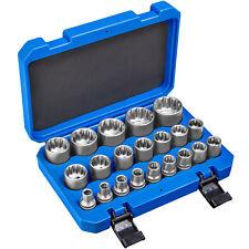 "21 pz. Set di chiavi a bussola XZN multidente attrezzo esterna valigetta 1/2"" nu"
