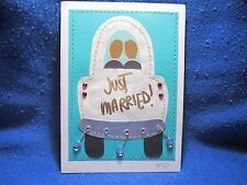 Handmade Same Sex Marriage Blank Greeting Card Embellished with Gems