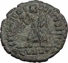 VALENTINIAN I 364AD R dot QVARTA Rome mint Rare  Ancient Roman Coin Nike  i32760