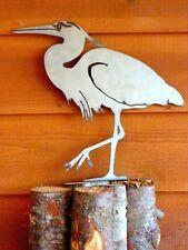 Cut Metal Rusty Great Blue Heron Bird Garden Home Yard Outdoor Lawn Art Decor