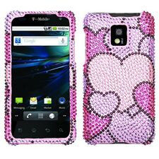 Cloudy Hearts Bling Case Phone Cover LG T-Mobile G2X