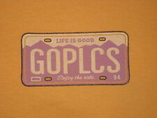 LIFE IS GOOD WOMEN'S S GO PLACES LICENSE PLATE T- SHIRT SIZE M