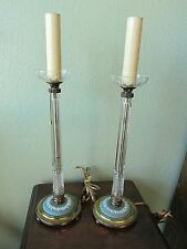 Wedgwood Jasperware Crystal Table Vanity Electric Candlestick Lamps Working