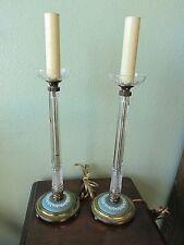 Wedgwood Jasperware Crystal Table Vanity Lamps