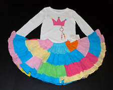 NWT Boutique Resell Rainbow Princess Crown Fairy Twirl Skirt Shirt Pageant 3 4 5