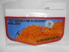 O.A. LODGE 387 HA KIN SKAY A KI 2002 NOAC TEST YOURSELF  B185