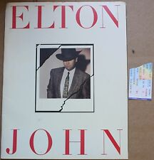 "1984 Elton John Large 14 x 11"" Breaking Hearts Tour Program w/Ticket"