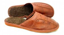 Men's Real Leather Slippers Size UK ,7,8,9,10, 100% Natural Leather