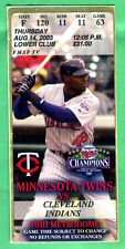 "NICE! TORII HUNTER ""PHOTO"" CLUB/SUITE TICKET STUB-8/14/03-TWINS/INDIANS"