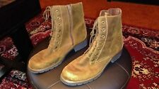 CLARKS SIZE 10 ORINOCO HOP CASUAL ANKLE BOOTS LACE UP WITH SIDE ZIP BROWN LADIES