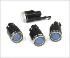 """FOUR Black/Blue Lampless """"Winky"""" Buttons For Standard Schadow Type Switches YF"""