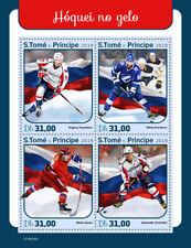 Sao Tome 2019 Ice Hockey Kuznetsov Russia Kucherov Gusev Ovechkin S/S ST190105