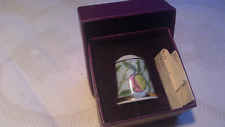 MUSEUM COLLECTION THIMBLE - WILLIAM MORRIS, POMEGRANATE, in orig Past Time box