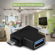 Adaptador OTG 2 1 USB 3.1 Tipo-C + convertidor Micro USB macho a USB 3.0 hembra