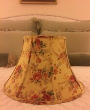 "X-LARGE LAURA ASHLEY ANGELICA FLORAL SHABBY CHIC 16.5"" COTTON BELL LAMP SHADE"