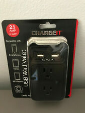 USB Wall Outlet 2.1 AMP Output - Dual USB Ports - Charging Cradle - Charge USB