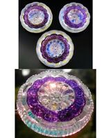 "3 Czech Crystal Glass LACY Buttons #B405 - 27 mm or 1"" - REVERSE IRIDESCENT!!!!!"