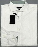 NWT $149  Bugatchi Long Sleeve Shirt Mens Size L Classic Fit White Geometric NEW