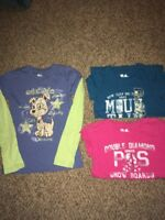Lot Of 3 Girls Shirts Size 8 P.S. By Aeropostale And So
