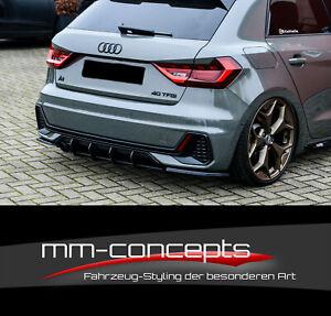Cup Diffusor Ansatz für Audi A1 GB S-Line S1 Heck Einsatz Stoßstange Splitter IN