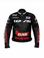 Motorbike Repsol black Riding Jacket-Motorcycle Leather Racing Jacket