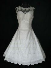50s 60s Ivory Wedding Dress/Bridal Gown/Evening/Prom Dress  SIZE 12/14