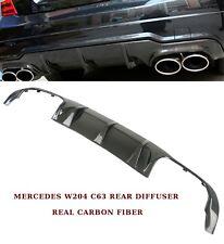 Mercedes Classe C W204 C63 AMG MOPF 2012-15 pare-chocs Arrière Diffuseur Fibre de Carbone
