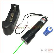 GK2 532nm Fixed Focus Green Laser Pointer Visible Laser Beam &Battery & Charger