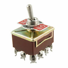 Ac 15a250v 10a380v Screw Terminals Onoffon 4pdt Latching Toggle Switch