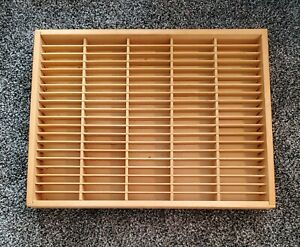NAPA VALLEY 100 Tape Cassette Wood Wall Display Case Rack Not Perfect