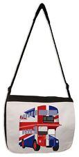 London Bus Union Jack Laptop Messenger Bag - Buses Gift Present